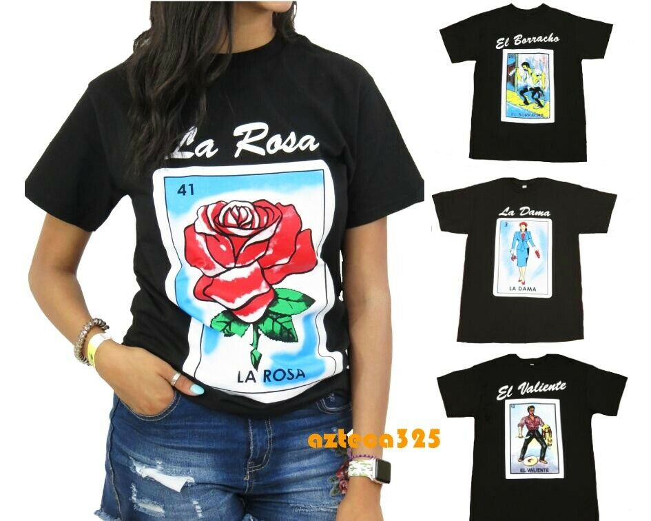 cac31802 Mexican Loteria Unisex Black T-Shirt Funny | eBay