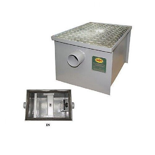 New commercial 7 gpm pdi approved regular grease trap 14 for Kitchen grease trap