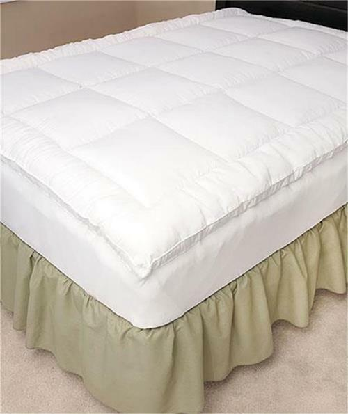 Stay Put Fitted Fiberbed Mattress Pad Topper W Elasticized
