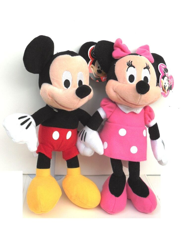 Mickey Mouse Toys : Disney quot mickey mouse minnie combo plush toy