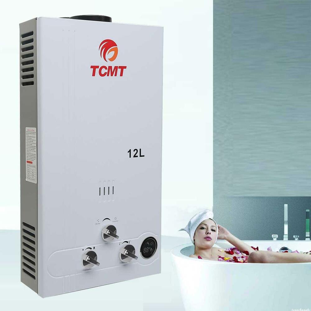 Instant Hot Water Heater Home : L gpm lpg gas tankless house instant boiler hot water