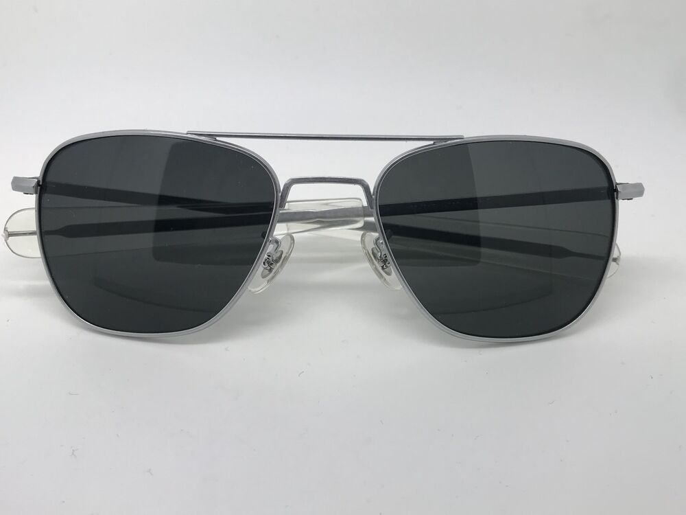 d1ab540de78 Details about 1991 Vintage Randolph Engineering matte chrome vs silver Aviator  Sunglasses 52mm