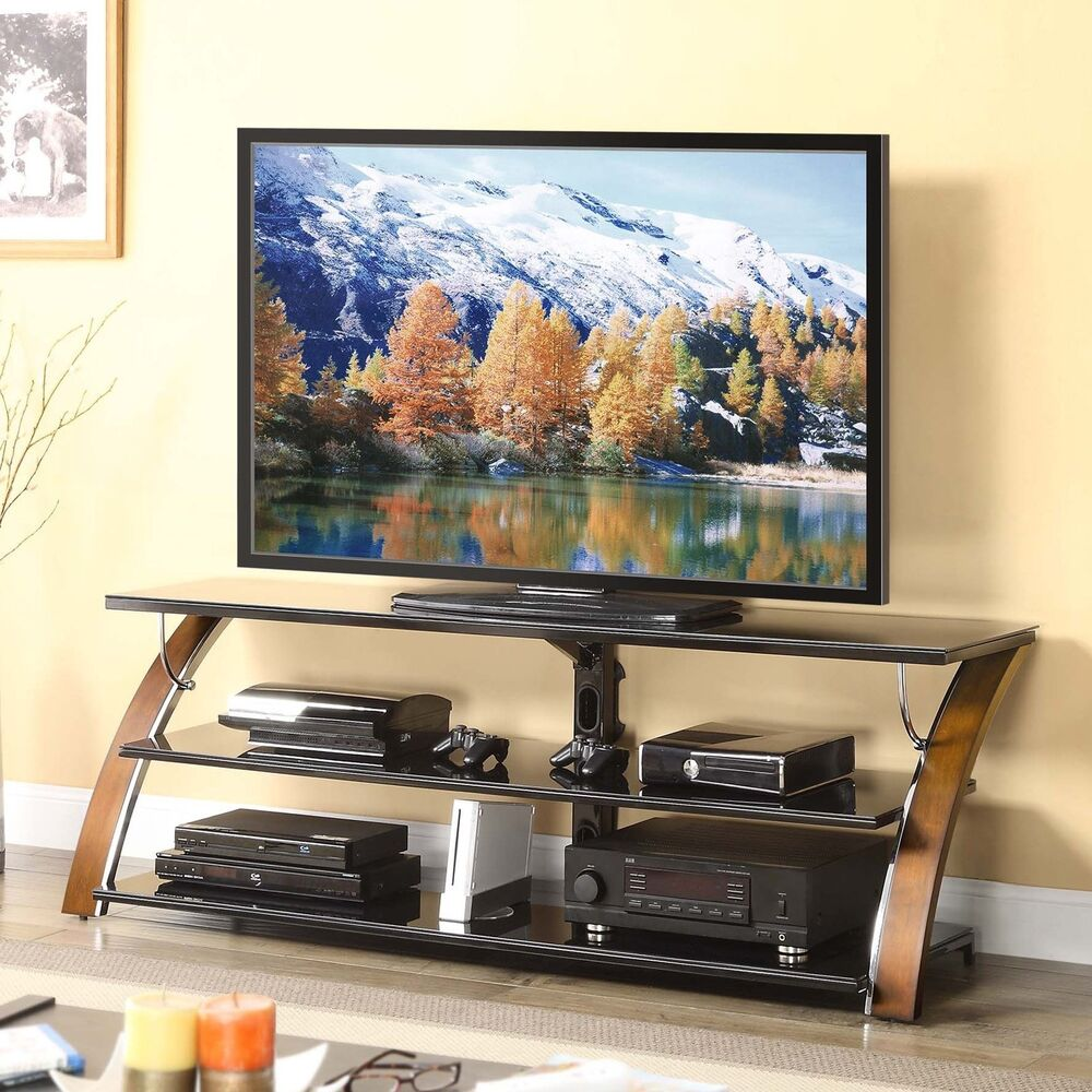 70 tv stand entertainment center media storage furniture cherry furniture new ebay. Black Bedroom Furniture Sets. Home Design Ideas