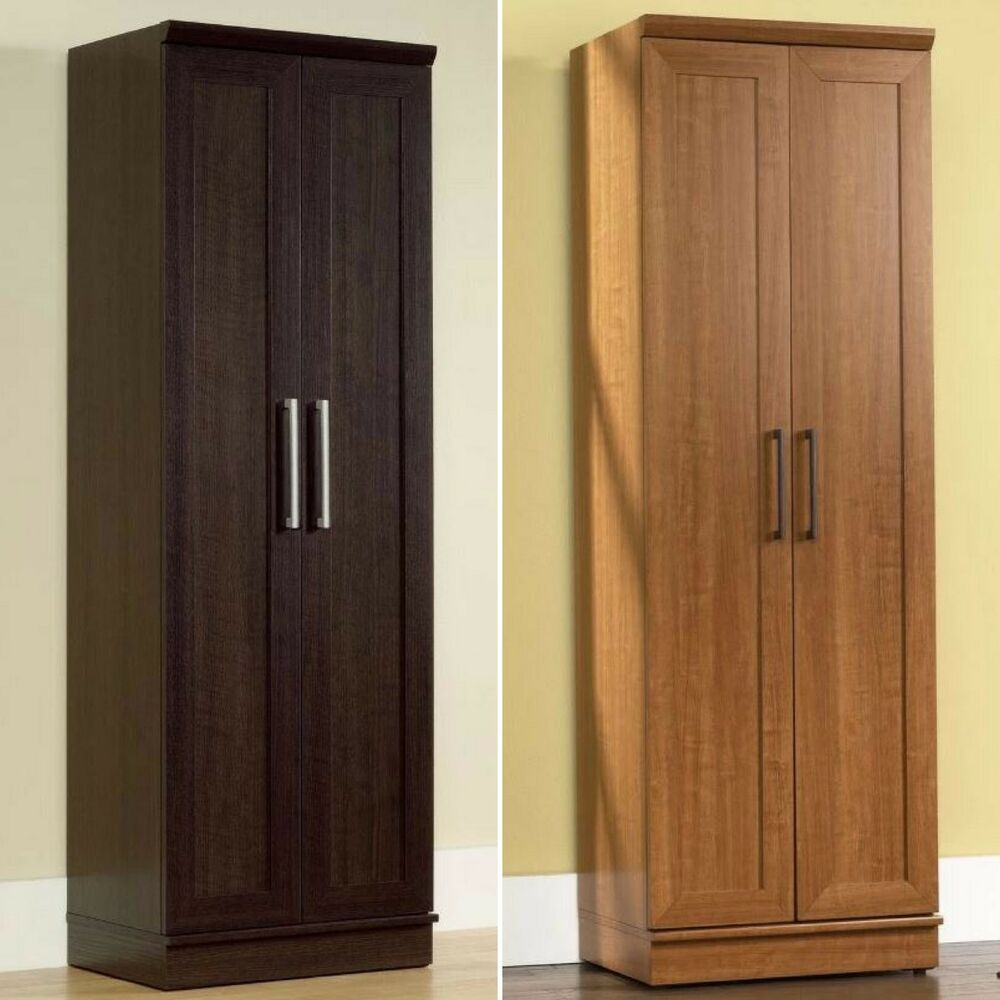 Tall Cabinet Storage Kitchen Pantry Food Organizer Cupboard 4 Shelves Wardrobe Ebay