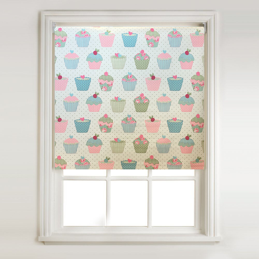 Candy Cakes Thermal Blackout Roller Blind Metal Tube