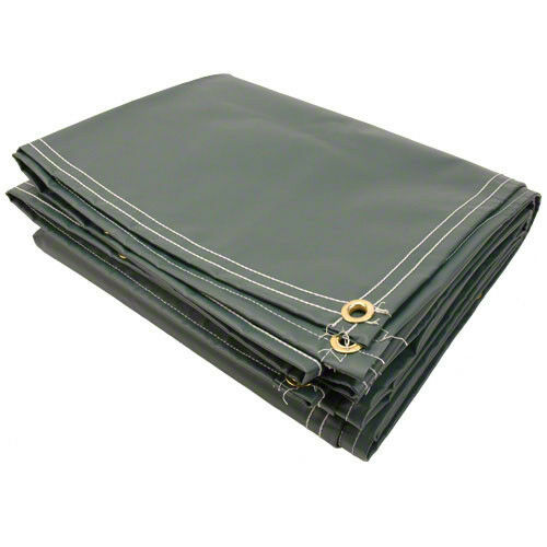 12 X 20 10oz Vinyl Coated Polyester Tarp Dark Green