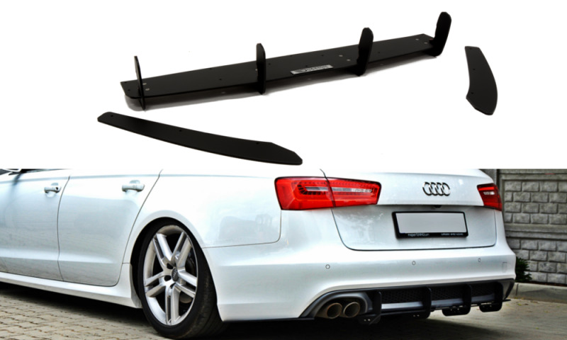 rear diffuser and rear side splitters audi a6 c7 s line. Black Bedroom Furniture Sets. Home Design Ideas