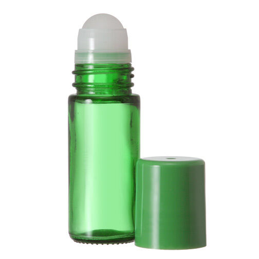 1 Extra Large Empty Green Glass Roll On Bottle 30 Ml 1 Oz