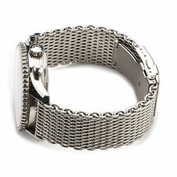 Shark Mesh Stainless Steel Watch Band Strap fits Breitlin Thick & Heavy