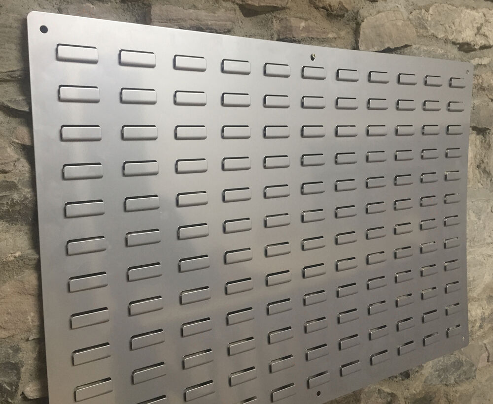 Metal Louvered Wall Pate Mount For Storage Parts Bins