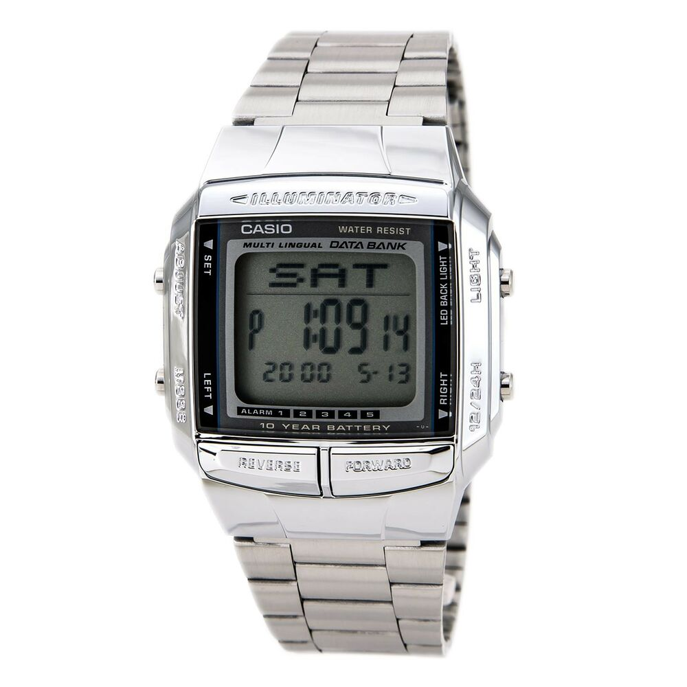 casio db360 1 mens multi lingual silver stainless steel