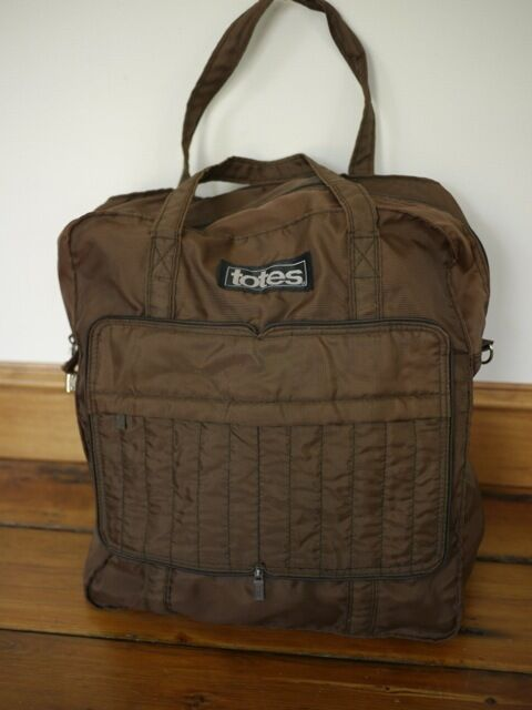 Vintage 1070s Totes Brown Nylon Carry On Travel Gym Book