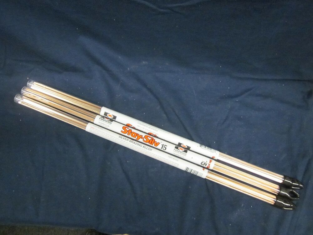 Lot Of 3 Harris Stay Silv 15 Silver Brazing Rods 1lb