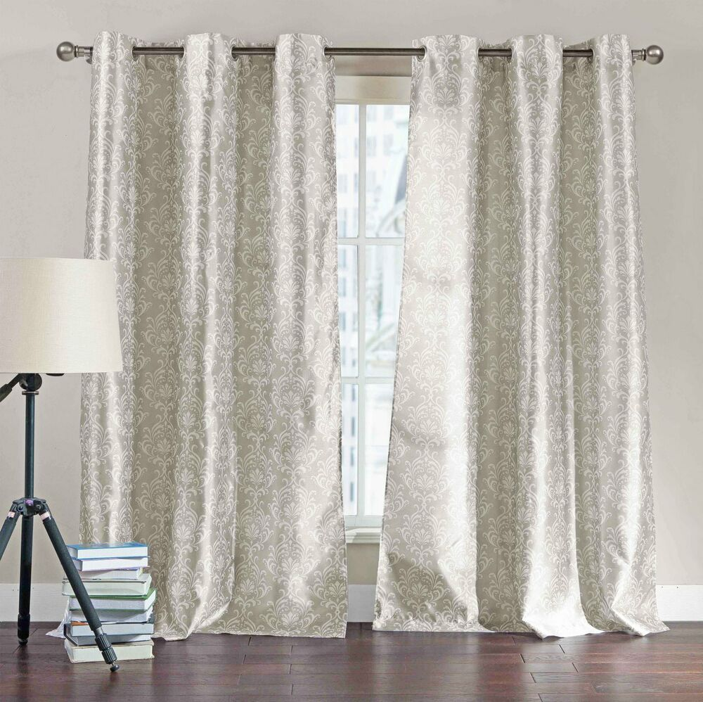 Set Of Two 2 Light Taupe Window Curtain Panels 76 Quot X 84