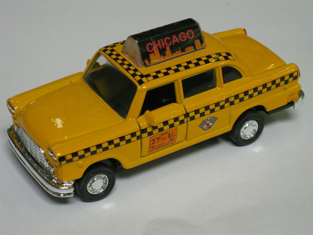 Aprox 1 43 chicago checker taxi yellow cab t4 ebay for Schuhschrank yellow cab