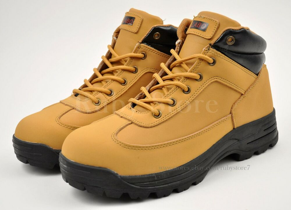 LABO Menu0026#39;s Tan Hiking Trail Casual Winter Work Boots Shoes Genuine Leather 561 | EBay