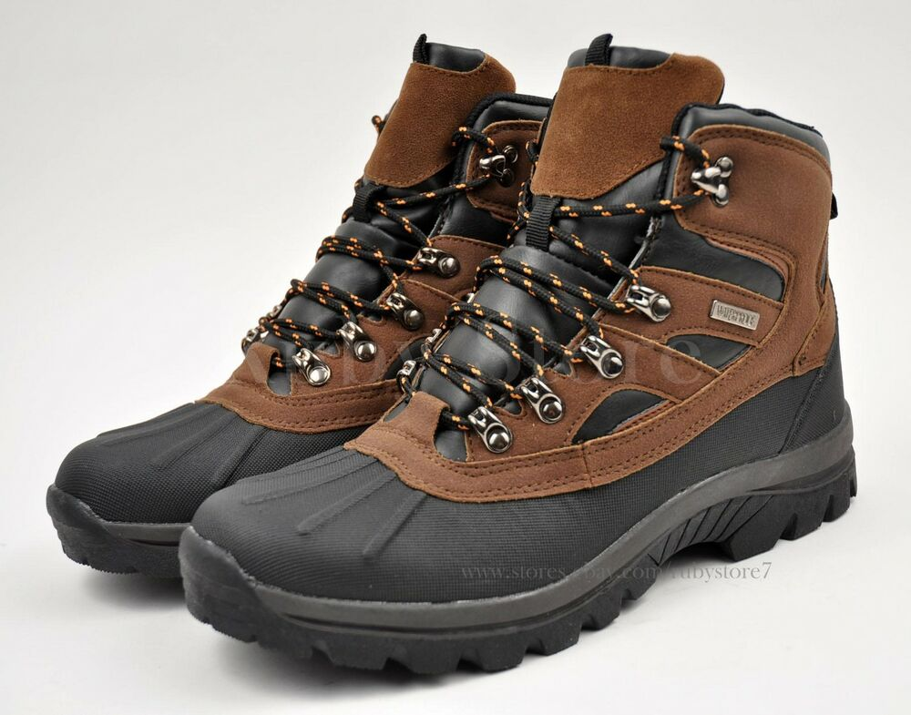 LABO Menu0026#39;s Black/Brown Winter Snow Work Boots Shoes Waterproof Insulated NS5912 | EBay
