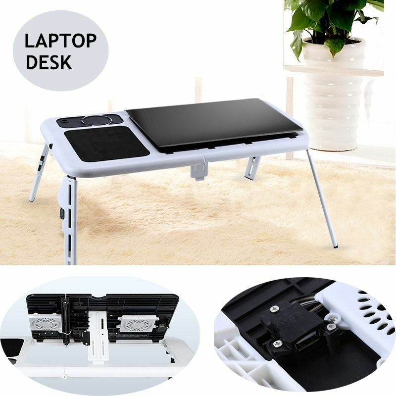 Laptop Lap Desk E Table Bed Foldable Table With Usb