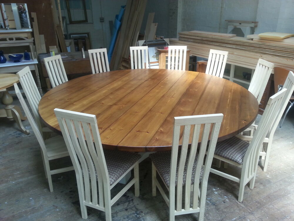 8 10 12 14 Seater Large Round Hoop Base Dining Table