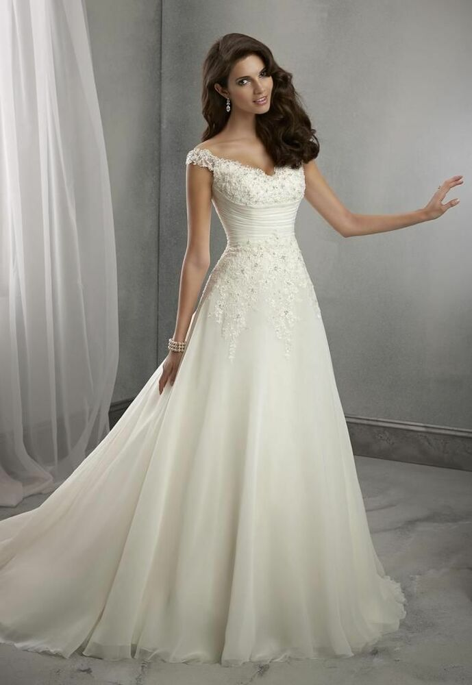 wedding dress bridal gown custom size 6 8 10 12 14 16 18 ebay