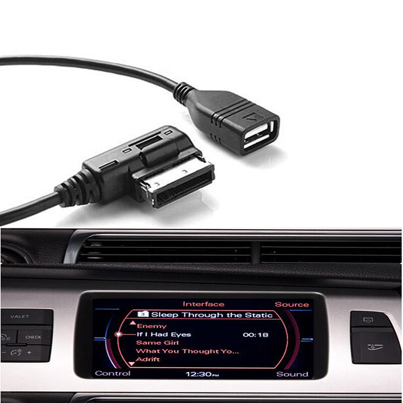 music interface adaptor ami cable usb device aux cord for audi a3 a4 q5 q7 r8 tt ebay. Black Bedroom Furniture Sets. Home Design Ideas