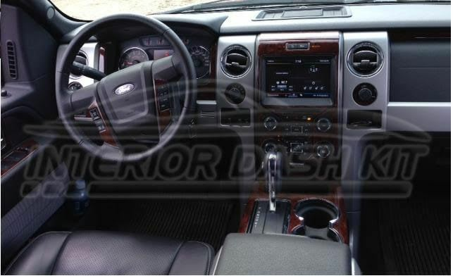 Ford f 150 f150 crew cab extended cab interior wood dash - 2013 ford f 150 interior accessories ...