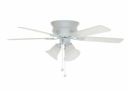 Oak Ceiling Fans With Lights : New inch white oak reversible blades ceiling fan