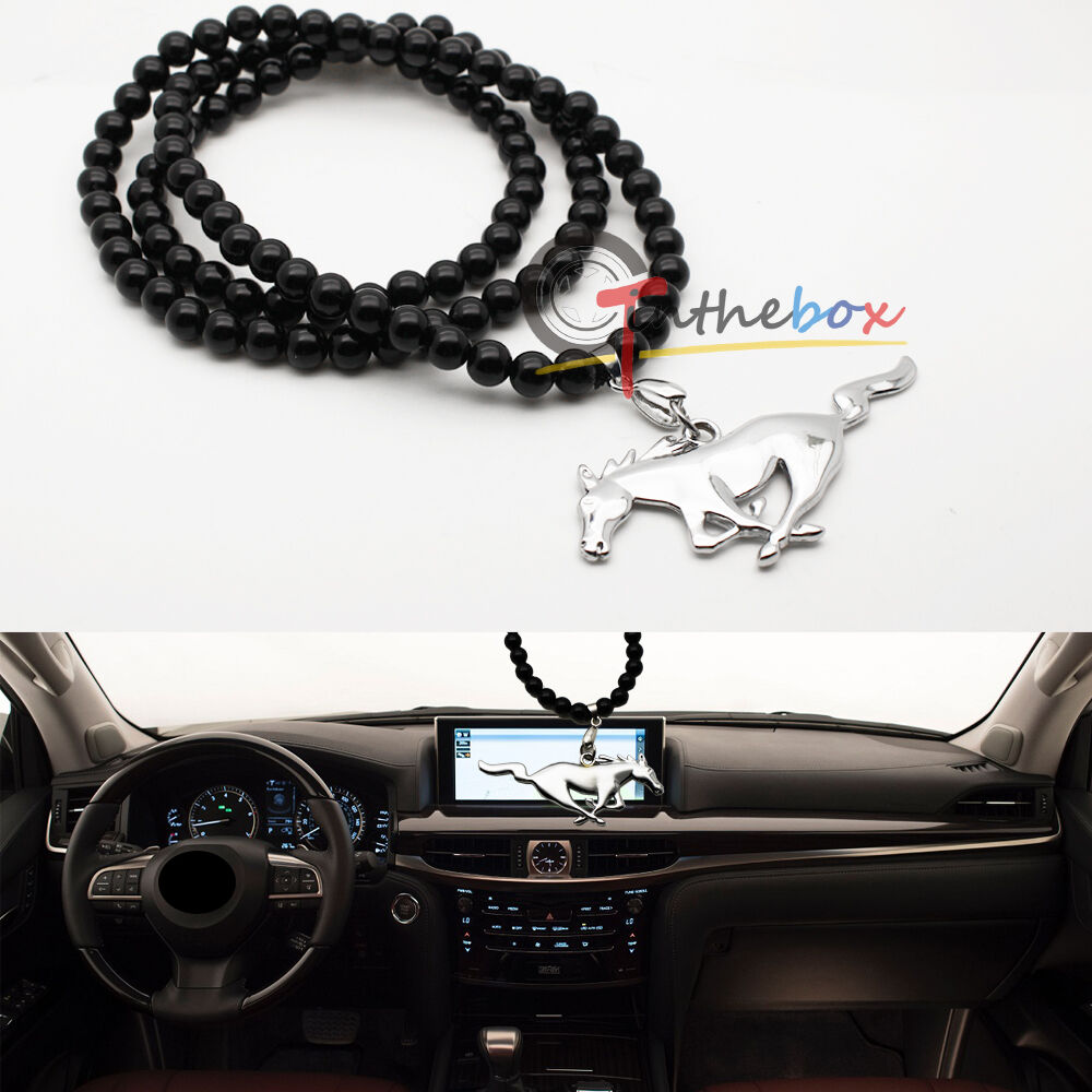 jdm pony horse car rearview mirror hanging ornament pendant for ford mustang ebay. Black Bedroom Furniture Sets. Home Design Ideas