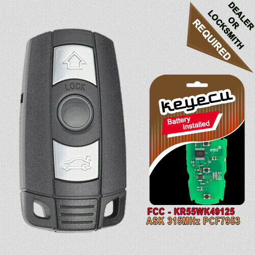 new uncut remote key fob cas3 for bmw e60 e61 e90 e92. Black Bedroom Furniture Sets. Home Design Ideas