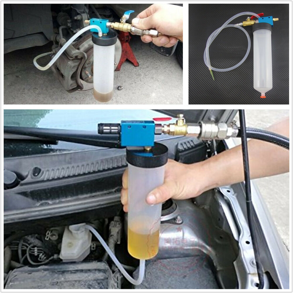 car truck brake system fluid bleeder kit hydraulic clutch oil one man tool new ebay. Black Bedroom Furniture Sets. Home Design Ideas