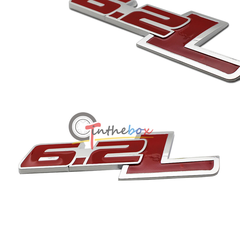 1pc red 62l side rear emblem for chevy camaro ss trunk
