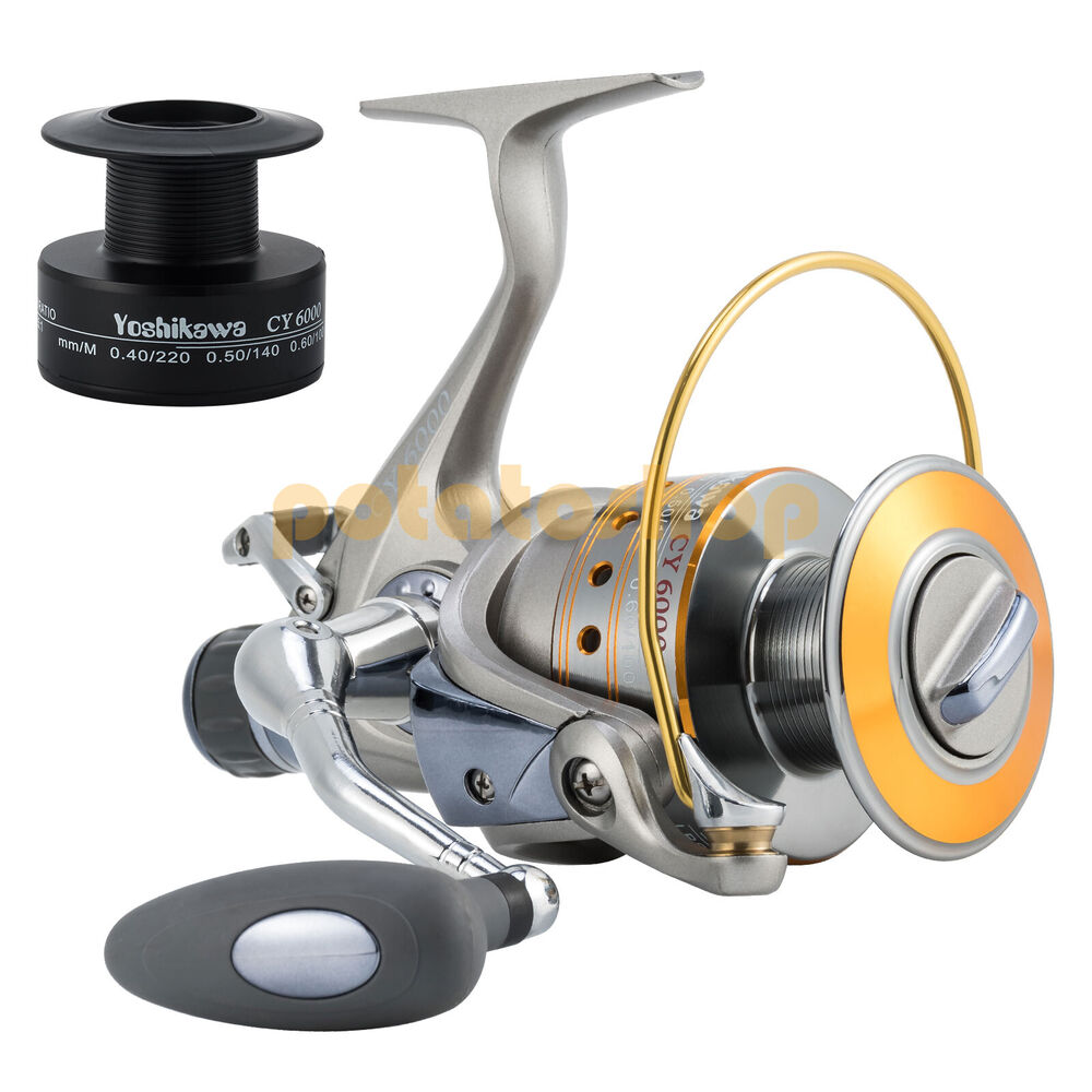 yoshikawa spinning reel baitfeeder fishing saltwater