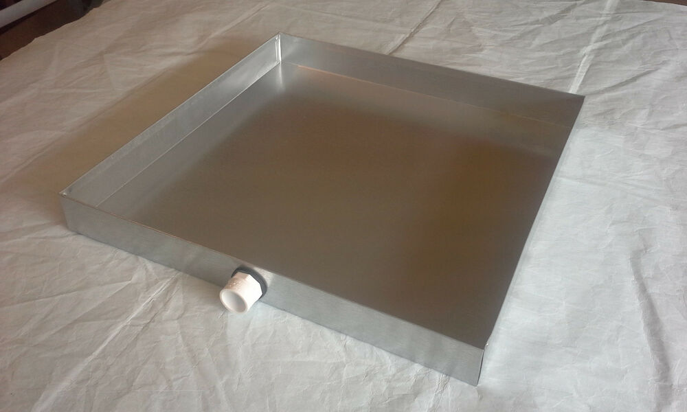 Hvac Drain Pan 14 X 14 X 2 Galvanized 26 Gauge Sheet Metal