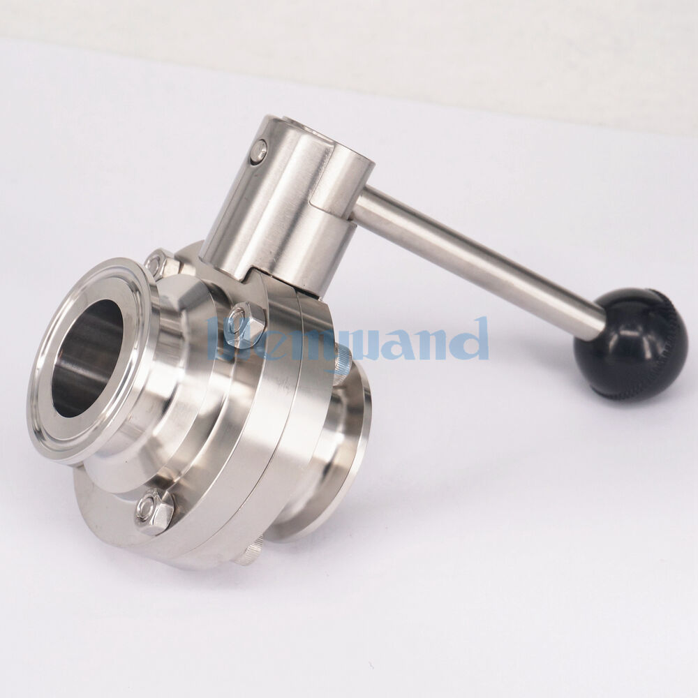 Quot mm ss sanitary tri clamp butterfly valve