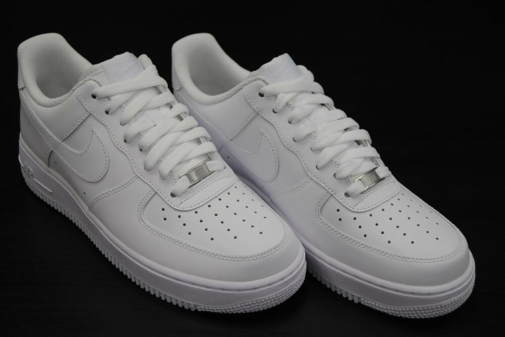 [315122 111] NEW MEN'S NIKE AIR FORCE 1 LOW '07 ALL WHITE ...