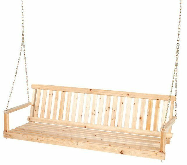 New Jennings 5 Ft Unfinished Cypress Wooden Porch Swing