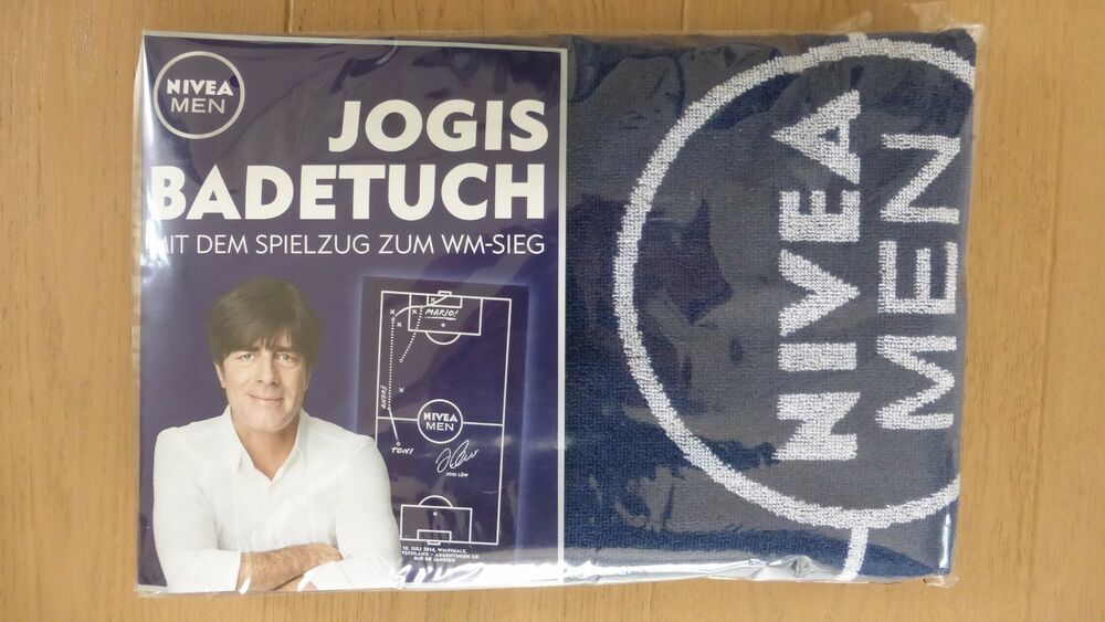 jogis badetuch nivea men saunatuch strandtuch handtuch jogi l w wm 2014 neu ebay. Black Bedroom Furniture Sets. Home Design Ideas
