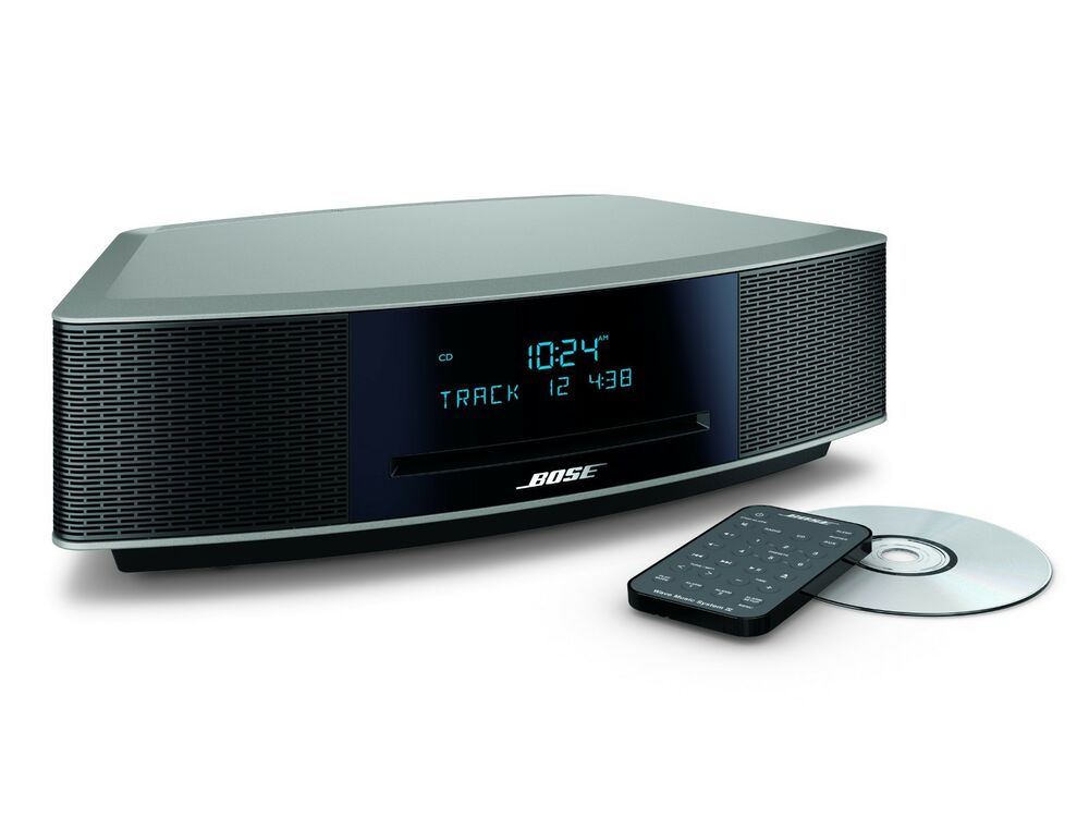 bose wave music system iv with remote cd player and am fm. Black Bedroom Furniture Sets. Home Design Ideas