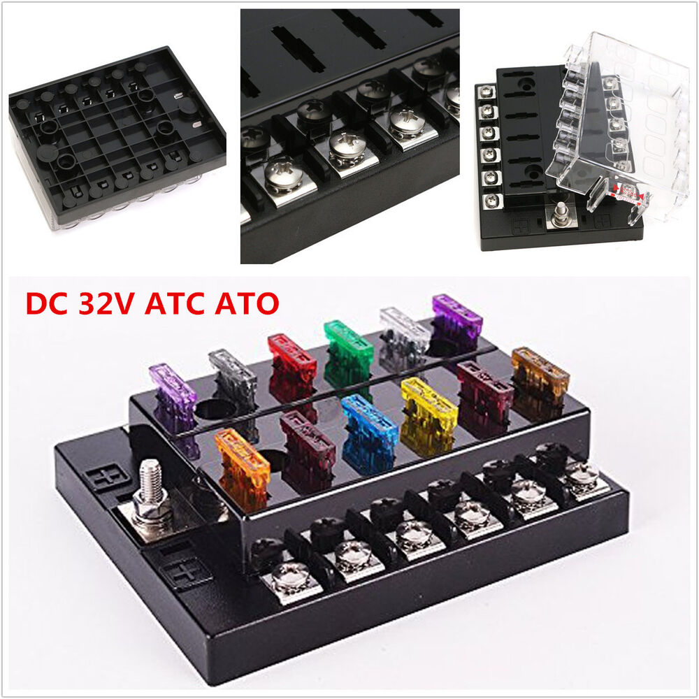 dc32v 12 way terminals circuit car auto boat blade fuse. Black Bedroom Furniture Sets. Home Design Ideas