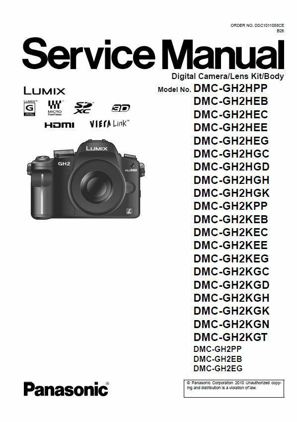 panasonic lumix dmc gh2 gh2h gh2k service manual repair guide ebay rh ebay com