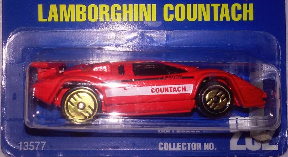 hot wheels 1 1994 lamborghini countach w gold ultra hot guh rims error mon. Black Bedroom Furniture Sets. Home Design Ideas