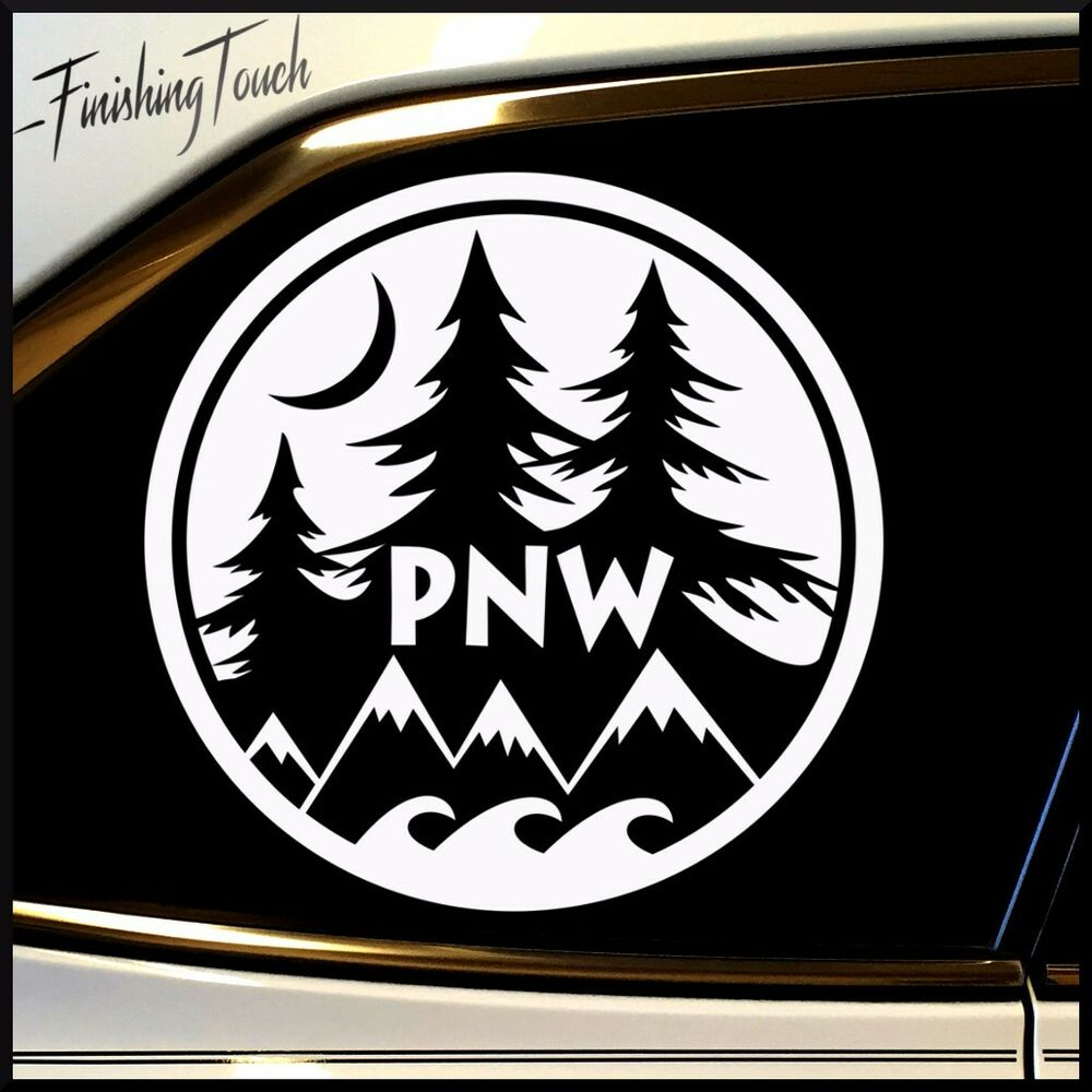 Vinyl decal pnw pacific northwest sticker car truck unique for Pnw homes