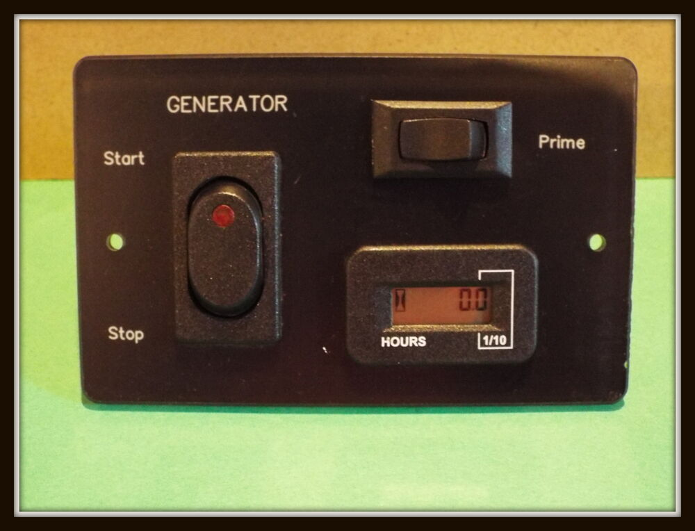 Hour Meters Panel : New generator remote start stop prime panel with hour