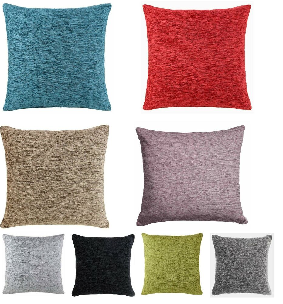 quality filledplain chenille cushion sofa cushion With sofa cushion cover sizes