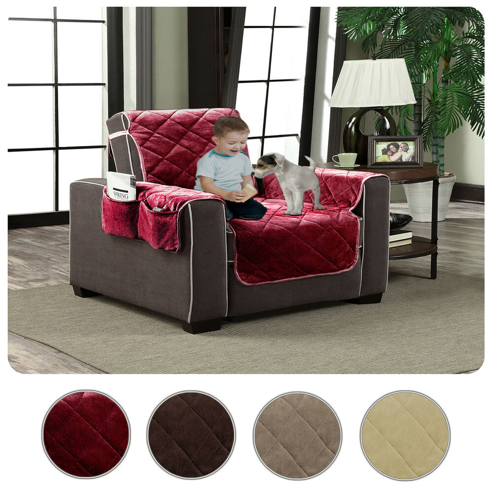 Plush Velour Slipcover Pet Dog Cat Couch Furniture