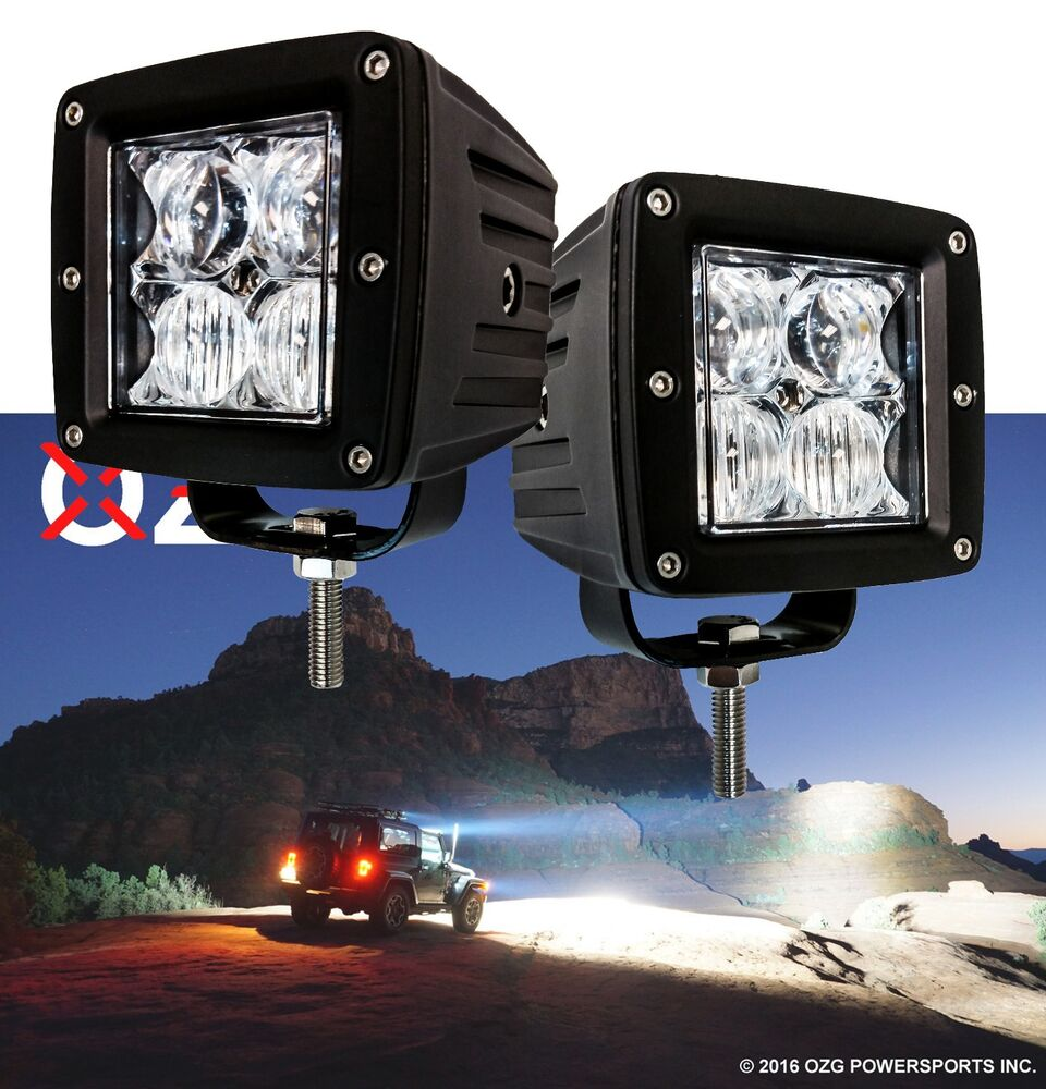 OZ-USA® 4D POD Combo Flood Spot Phillips LED Lights Fog