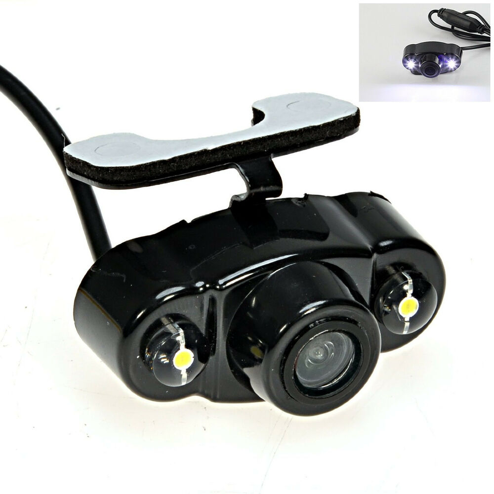 car 170 wide angle 2 led light night vision view reverse backup parking camera ebay. Black Bedroom Furniture Sets. Home Design Ideas