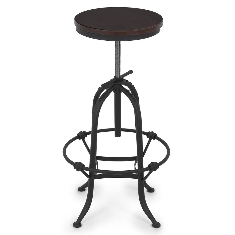 Industrial vintage design adjustable height swivel bar for Industrial design bar stools
