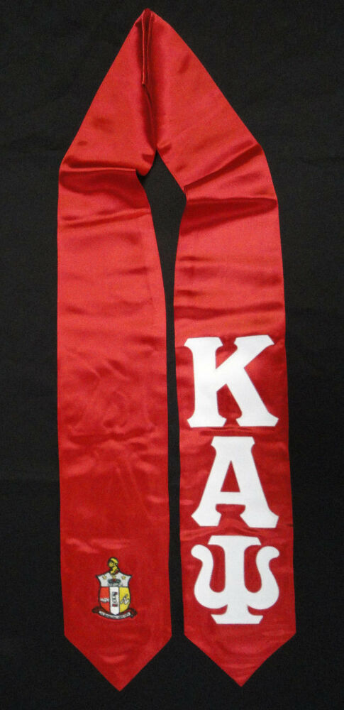 Kappa Alpha Psi Red Satin Graduation Stole Stoll Sash 4