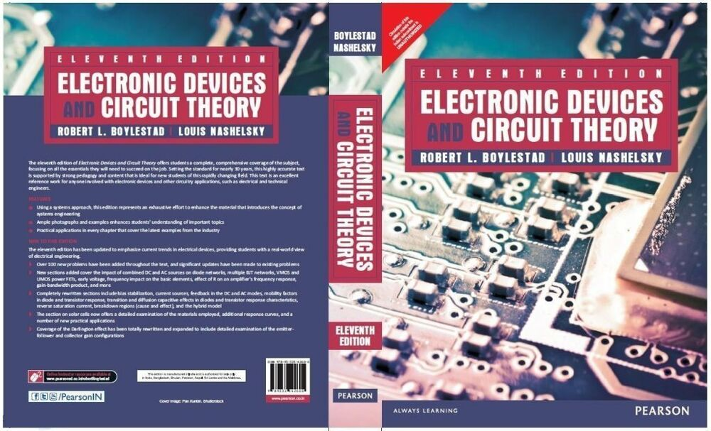 electronic devices and circuit theory by robert l boylestad and louis nashel 9780132622264 ebaydetails about electronic devices and circuit theory by robert l boylestad and louis nashel